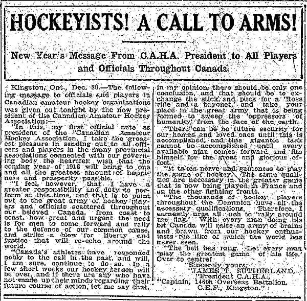 Hockeyists article