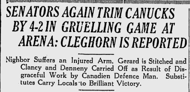 Cleghorn Headline