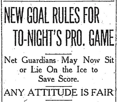 Goalie rule