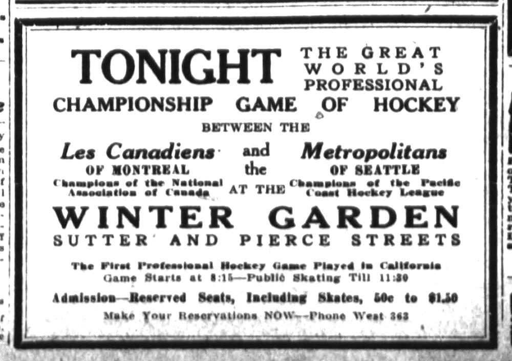 Hockey ad