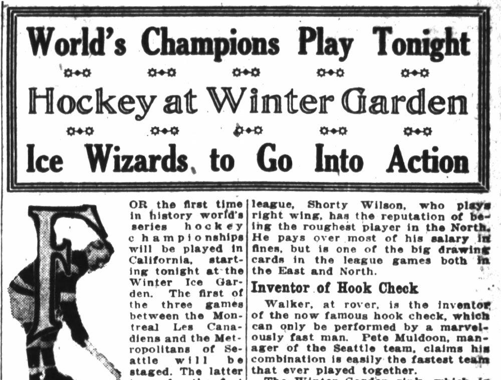 Hockey headline